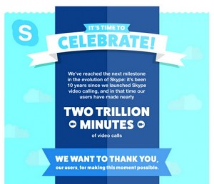 10th anniv of Skype: Free group messaging on Android, iOS