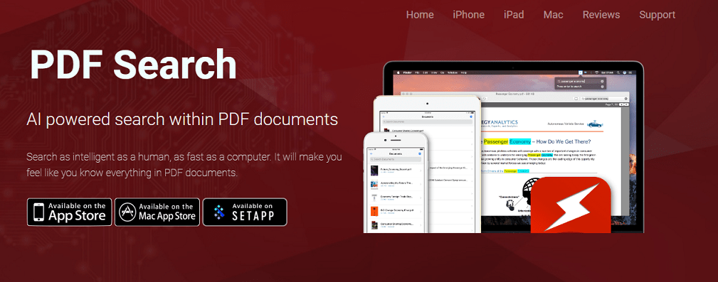 Search through PDFs on iPhone or Mac using AI - #Startups
