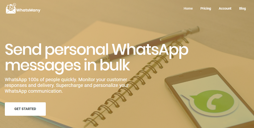 Send out personal WhatsApp messages in bulk - New app