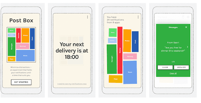 Postbox: Part of the digital well being experiment by Google